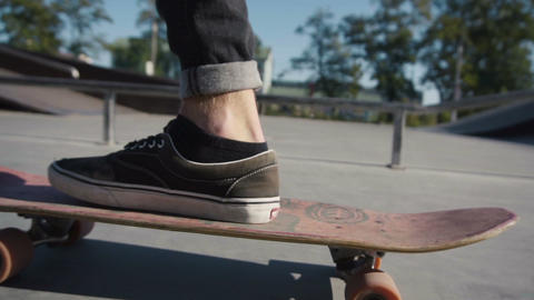 Young man ride a skateboard Footage