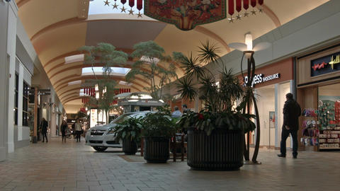 Mall shopping center holiday season HD 0103 Footage