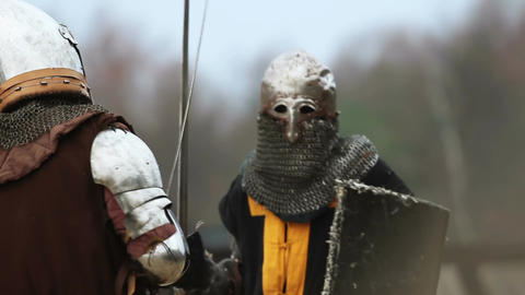 Long brutal fight between two rival knights. Medieval…, Live Action