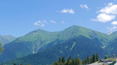 Gazprom complex, mountain view. Sochi, Russia Footage