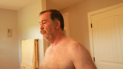 Man shaving fast motion P HD 0643 Stock Video Footage