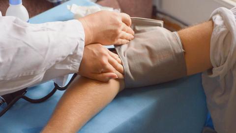 Blood Pressure Check Machine Stock Video Footage