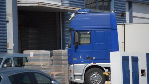 Big Blue Truck Footage