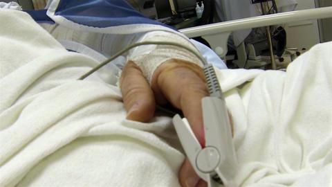 Medical oxygen sensor mans hand surgery hospital HD 001 Live Action