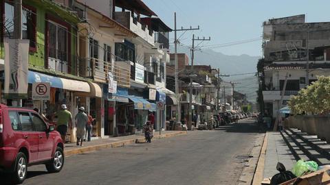 Mexico street Puerto Vallarta P HD 4529 Footage
