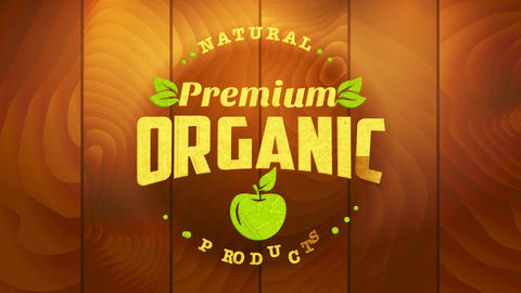 vegetable diversity raw food sign with wooden and green elements to advertise health conscious and Animation