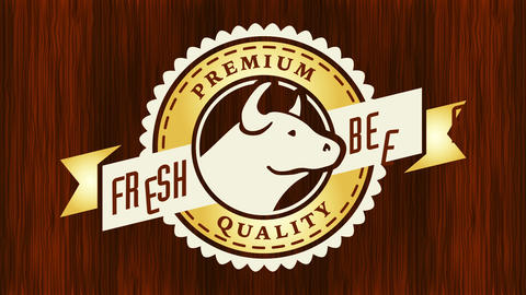 highly demanded beef trademark with elegant icon from renowned grocery store chain creating good Animation