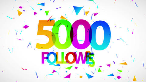 5000 followers celebration advert for network search and browsing top on social media and rest of Animation