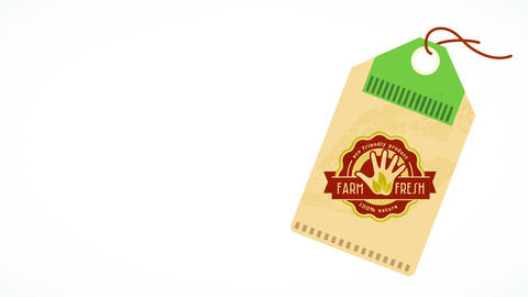 recycled label for eco friendly natural farm pure product manufactured following green procedures Animation