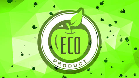 eco nourishment product mark with reliable freshness for consumers welfare and healthy meals over Animation