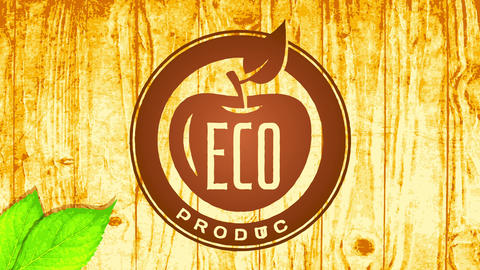 modern eco vegan food product corporate identification idea using pyrography technique style on Animation