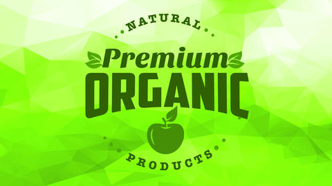 package cover idea for premium natural fruit products selling organic green apples with modern Animation