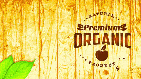 wooden themed premium vegan vegetable organic nurture sign manipulation pyrography style lettering Animation