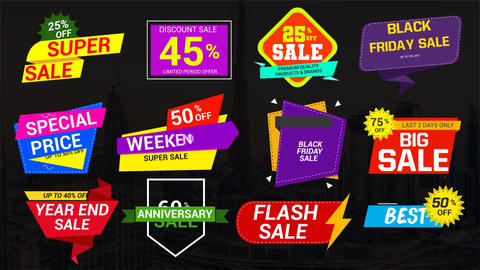 Sale Labels & Badges 7 Motion Graphics Template