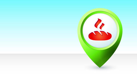 map pin index icon with an anchor illustration inner it representing gps position service for Animation
