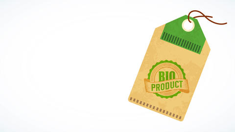 special recycled label to recognize bio healthful products for nourishment industry manufacturers Animation