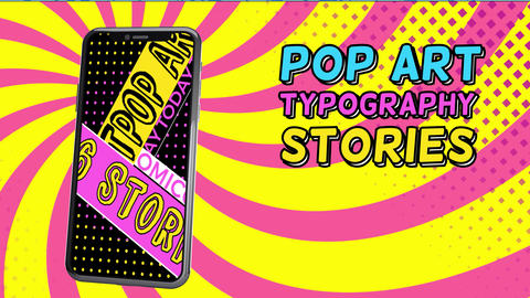 Pop Art Typography Sale Stories After Effects Template