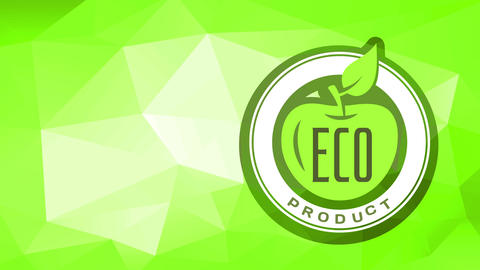 eco nutrient product mark with secure freshness for consumers well-being and healthy meals over Animation