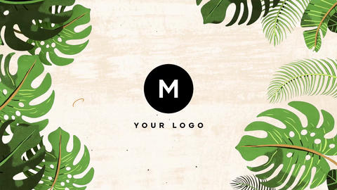 Nature Tropical Leaves Logo Apple Motion Template