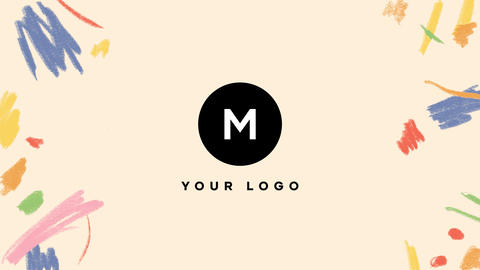 Hand Drawn Brush Scribble Logo After Effects Template