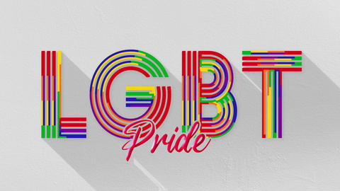 LGBT Pride Title on a white Background Animation