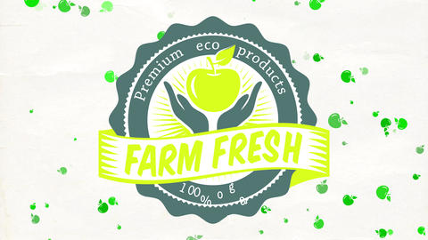 100 percentage vital fresh premium eco products for cultivator store ad with classical typeface and Animation