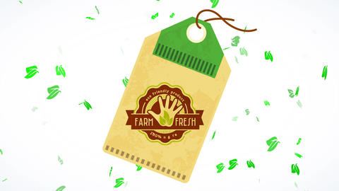 recycled seal for eco kind natural ranch pure product manufactured following green procedures with Animation
