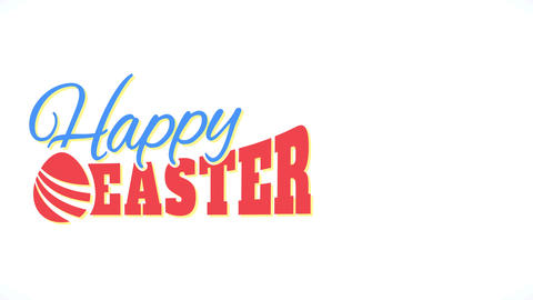 fatal joyful easter mark with conceptual egg decorating soft toned font with floating effect over Animation