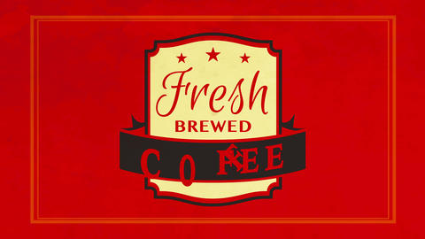 espresso type fresh brewed coffee sign for product combining arabica and robusta beans for high Animation