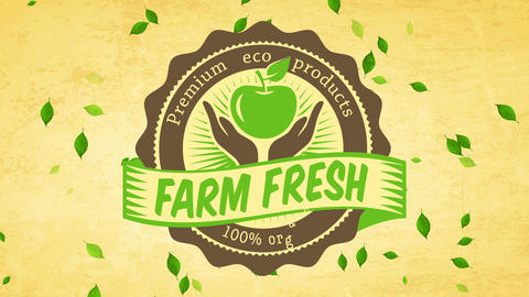 premium eco pure healthful product advertising for farmers retailers market manipulation aged Animation