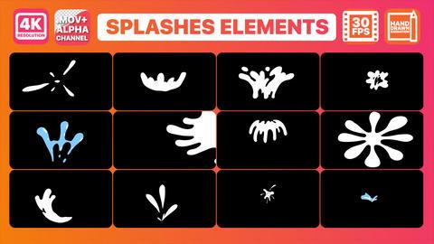 Splashes Elements Animation