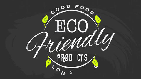 minimalist eco friendly products advertising for good healthy life prolonging food with letters on a Animation