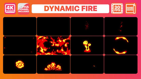 Dynamic Fire And Titles Motion Graphics Template