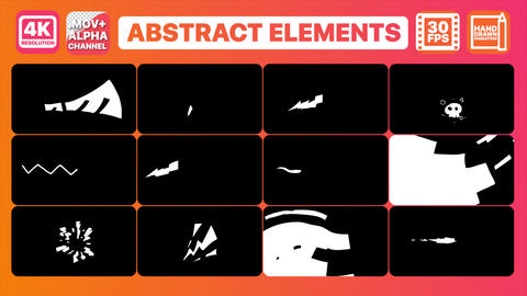 Abstract Elements and Transitions Pack Animation