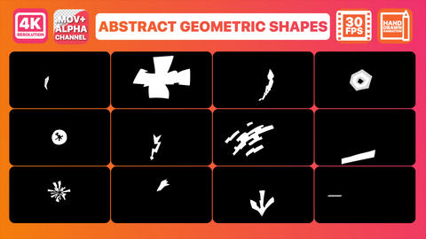Abstract Geometric Shapes And Transitions Pack Animation