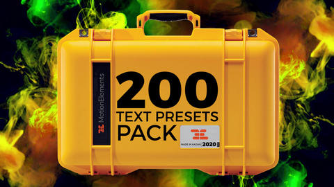 200 Text Presets PACK 2020 After Effectsアニメーションプリセット