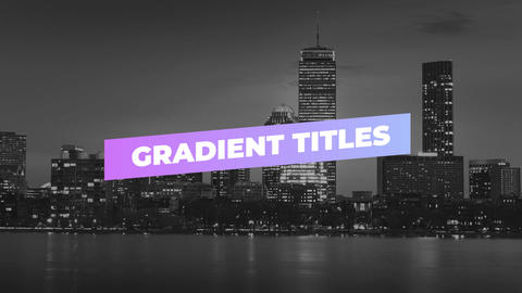 Simple Gradient Titles Premiere Pro Template
