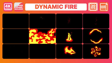 Dynamic Fire And Titles Apple Motion Template