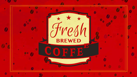 espresso type fresh brewed coffee mark for product combining arabica and robusta beans for high Animation