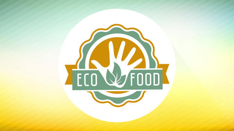 small eco food business ad for website marketing using attractive colors and wavy edge icon Animation