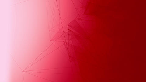 Slick minimalistic Plexus and Vectors Looped Background on Red Gradient Animation