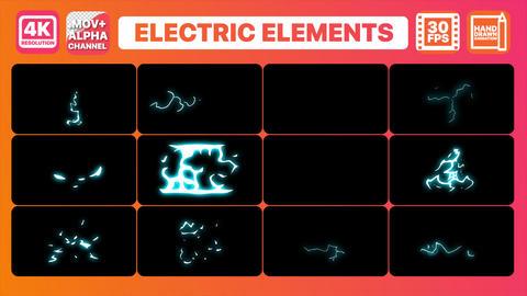 Cartoon Electric Elements Pack CG動画