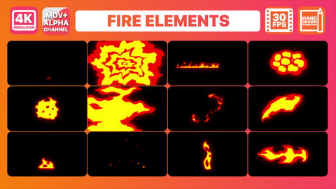 Fire Elements Pack Animation