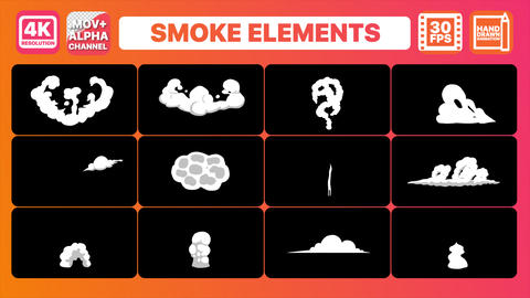 Smoke Elements Transitions Pack Animation