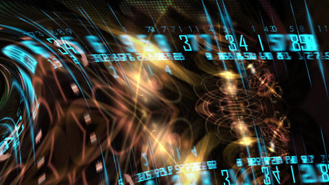 Flying through Futuristic technological interface - HUD animation Animation