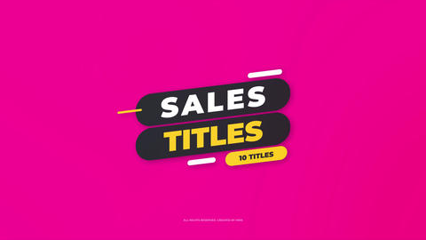 Sales Titles Apple Motion Template