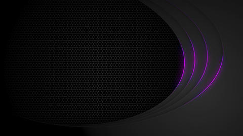 Dark tech abstract motion design with purple neon lines. Glowing futuristic technology background Animation