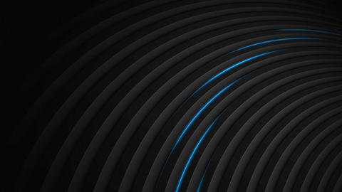 Dark tech abstract motion design with blue neon lines Animation