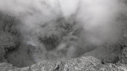 Volcanic activity - boiling thermal mud pot in crater of active volcano in Kamch Footage