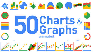50 Animated Charts Graphs After Effectsプロジェクト